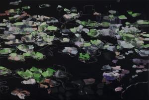 Ninfee 2 2015 cm.200x300 olio su tela